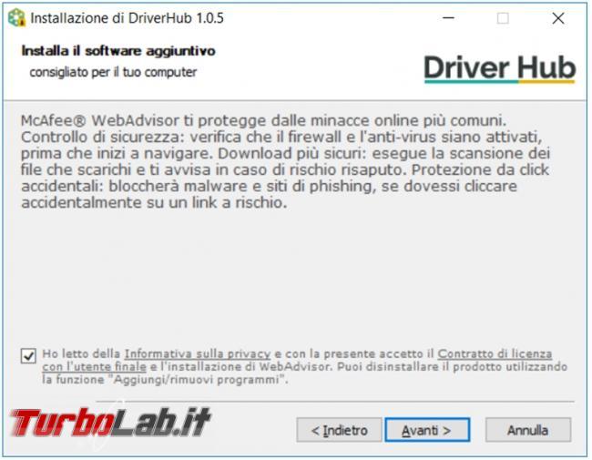 DriverHub risparmi tempo ricerca driver aggiornati computer