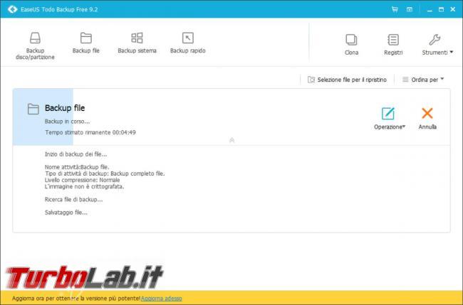 EaseUS Todo Backup mette sicuro dati personali, clona dischi fissi partizioni, senza spendere euro