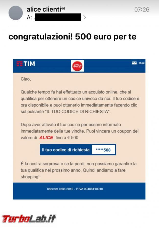 Email alice clienti: congratulazioni! 500 euro te - Screenshot_20200523-090710