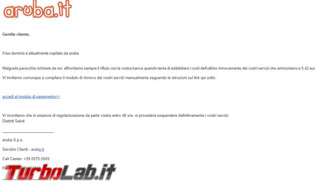 Email phishing nome Aruba: è truffa - 73215879_1331578397003838_5386688570360594432_o