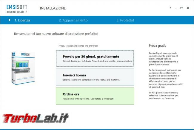Emsisoft Internet Security 11 messo prova TurboLab.it