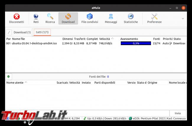 eMule Linux (Ubuntu): download, configurazione guida completa aMule (video) - Schermata del 2021-04-18 11-49-41