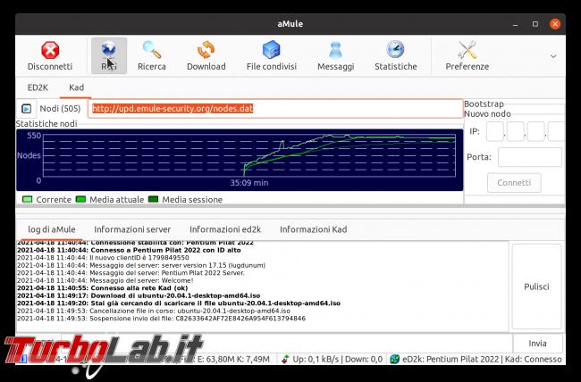 eMule Linux (Ubuntu): download, configurazione guida completa aMule (video) - Schermata del 2021-04-18 11-58-44