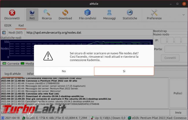 eMule Linux (Ubuntu): download, configurazione guida completa aMule (video) - Schermata del 2021-04-18 12-01-10