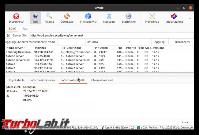 eMule Linux (Ubuntu): download, configurazione guida completa aMule (video) - Schermata del 2021-04-18 12-11-37