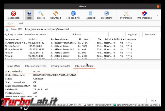 eMule Linux (Ubuntu): download, configurazione guida completa aMule (video) - Schermata del 2021-04-18 12-12-08