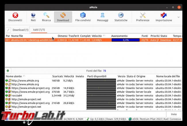 eMule Linux (Ubuntu): download, configurazione guida completa aMule (video) - Schermata del 2021-04-18 12-15-13