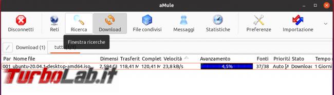 eMule Linux (Ubuntu): download, configurazione guida completa aMule (video) - Schermata del 2021-04-18 13-14-09