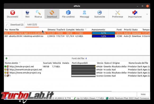 eMule Linux (Ubuntu): download, configurazione guida completa aMule (video) - Schermata del 2021-04-18 13-19-10