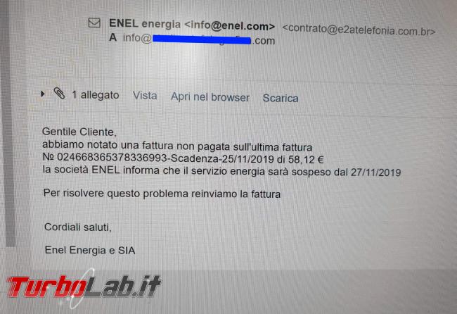 Enel Energia, fattura non pagata: è truffa - FrShot_1574499877