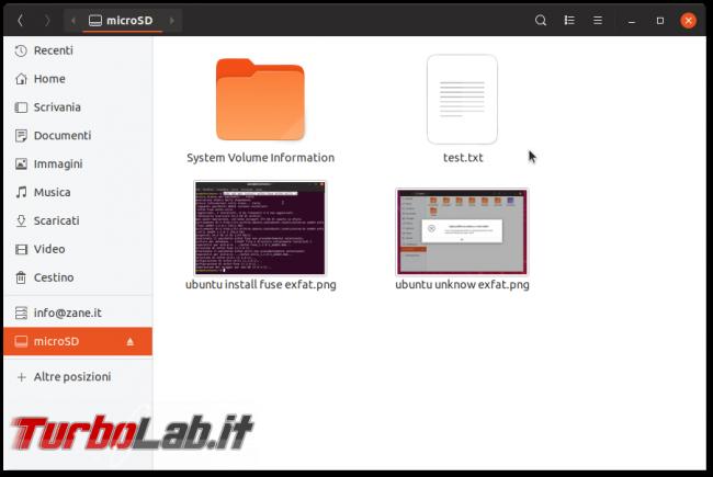Errore unknown filesystem type 'exFAT' Ubuntu: come leggere/scrivere scheda SD/microSD macchina fotografica chiavette USB exFAT Linux - ubuntu exfat mounted