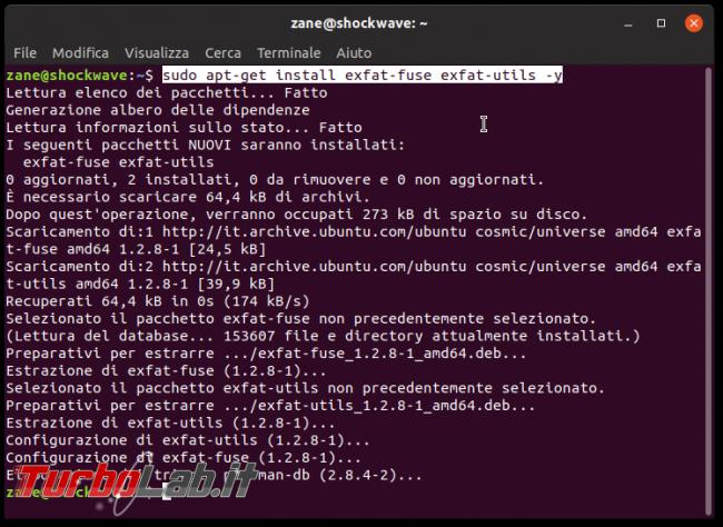 Errore unknown filesystem type 'exFAT' Ubuntu: come leggere/scrivere scheda SD/microSD macchina fotografica chiavette USB exFAT Linux - ubuntu install fuse exfat