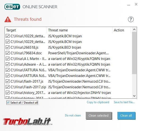 Eset online scanner affianca antivirus scoprire malware più nascosti