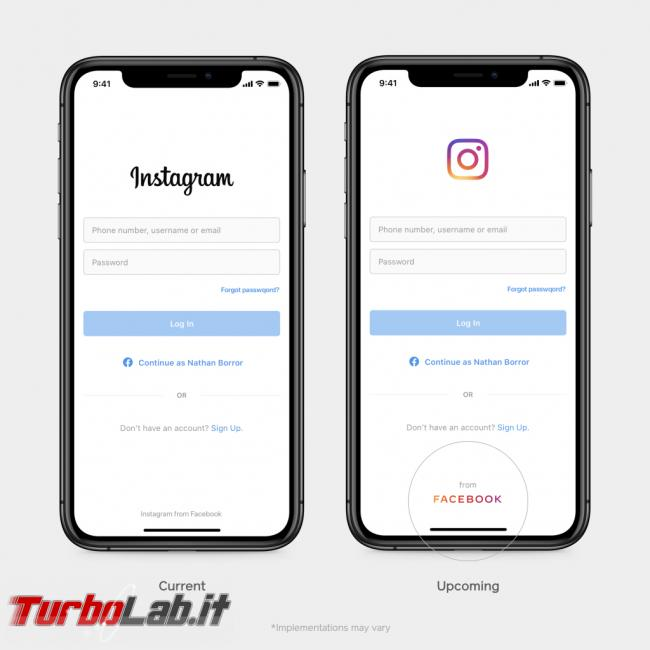 Facebook Inc. crea nuovo logo far sapere possiede Instagram WhatsApp - ig-welcome-screen-1
