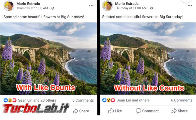 Facebook: oggi Australia dice addio contatore like - FrShot_1569586166
