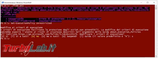 Fido, script Powershell scarica immagini Iso Windows 10 Windows 8.1