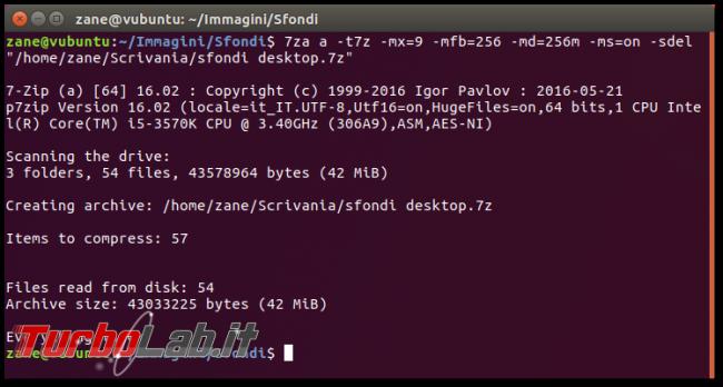 File .7z, Linux linea comando: come creare/comprimere ed estrarre archivi 7z 7-Zip Ubuntu CentOS - Schermata del 2017-09-17 22-40-05