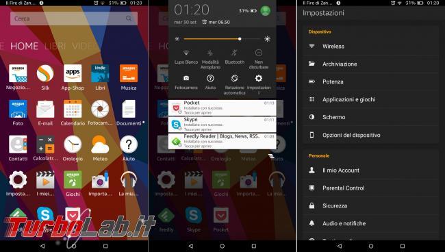 """Fire 7"""" (2015): esperienza d'uso prova completa tablet 60 € Amazon"""