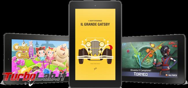 """Fire 7"""" (2015): esperienza d'uso prova completa tablet 60 € Amazon - amazon fire 7 2015 multiple"""