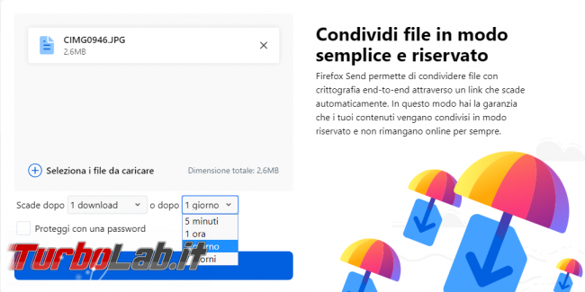 Firefox Send è nuovo file hosting Mozilla crittografato sicuro
