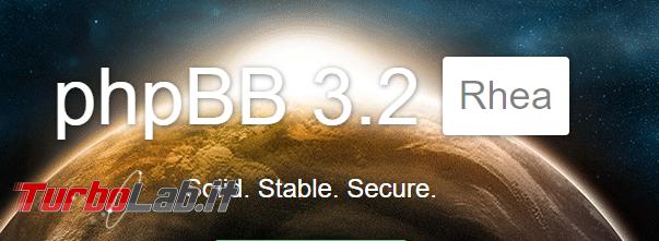 forum TurboLab.it si aggiorna phpBB 3.2