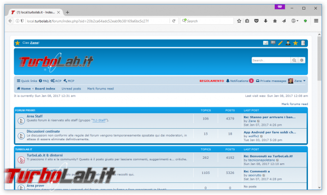 forum TurboLab.it si aggiorna phpBB 3.2