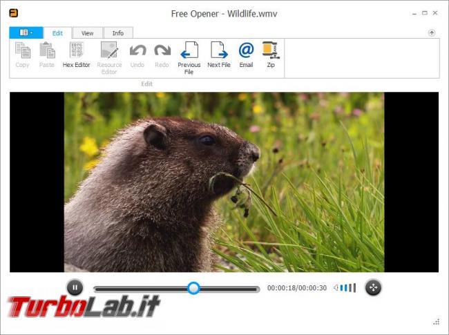 Free Opener, visualizzatore file (quasi) universale