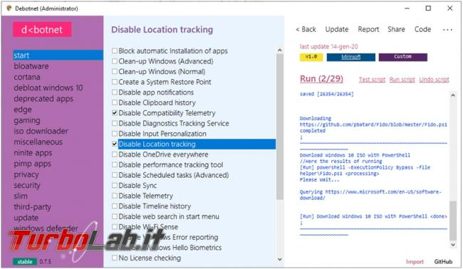 gestione privacy manutenzione windows 10 si fanno Debotnet