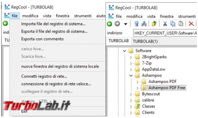 gestione registro configurazione Windows non sarà più problema Regcool