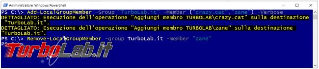 Gestire account gruppi Windows PowerShell