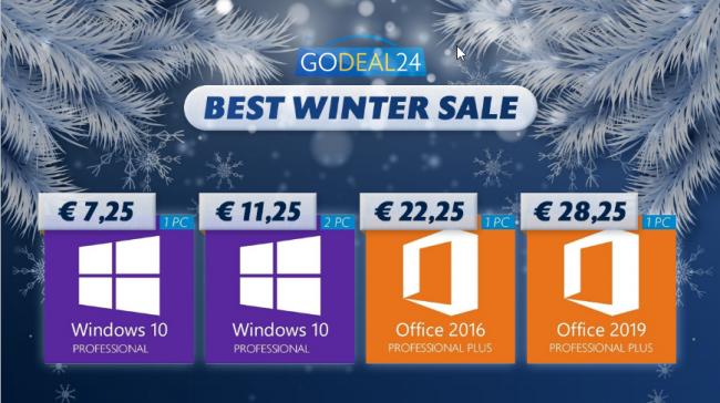 Giorni freddi cuori caldi: Windows 10 Pro soli 7,25 € - FrShot_1611655460_