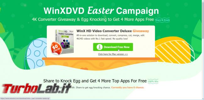 Giveaway Pasqua: WinX HD Video Converter Deluxe altri 4 programmi sono regalo