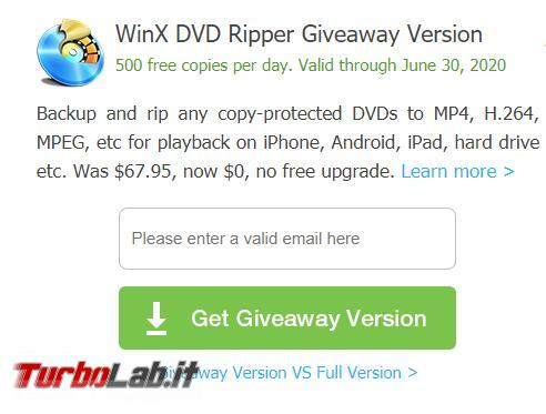 Giveaway: TurboLab.it regala WinX DVD Ripper