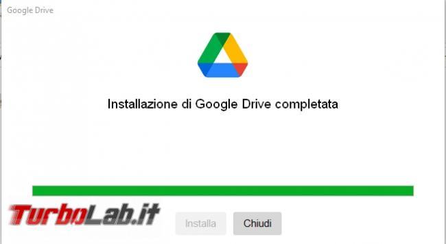 Google Backup and Sync Google Drive for desktop: mini-guida veloce transizione necessaria, indolore - Google Drive_002-001_ITA