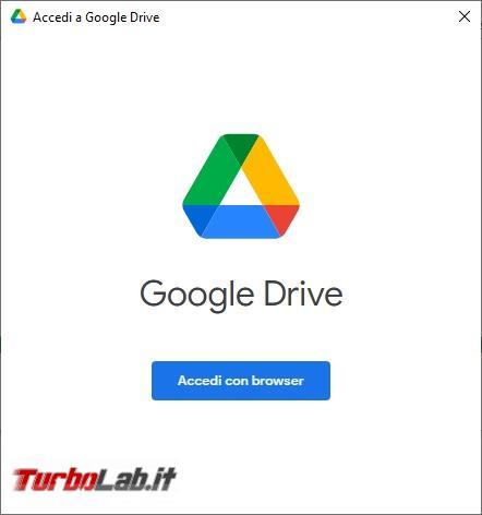 Google Backup and Sync Google Drive for desktop: mini-guida veloce transizione necessaria, indolore - Google Drive_002-002_ITA_[compare automaticamente al termine del processo di installazione]