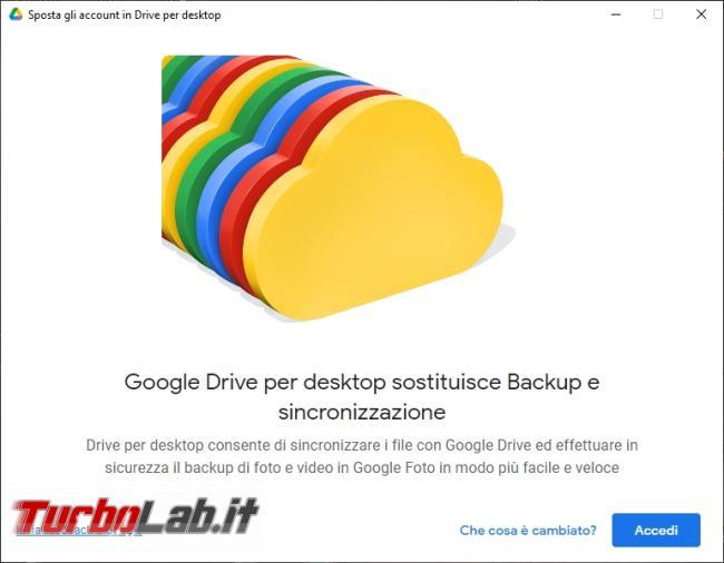 Google Backup and Sync Google Drive for desktop: mini-guida veloce transizione necessaria, indolore - Google Drive_007_ITA_[compare automaticamente dopo il processo di autenticazione da dentro il browser]