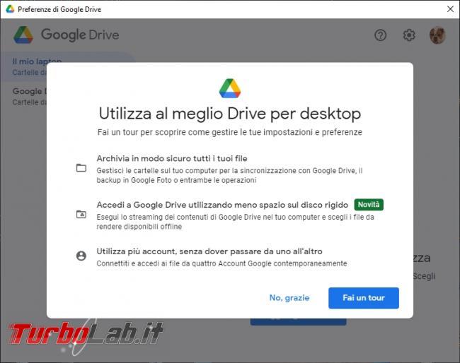 Google Backup and Sync Google Drive for desktop: mini-guida veloce transizione necessaria, indolore - Google Drive_019_ITA_[click destro e preferenze_click rotellina ingranaggio]