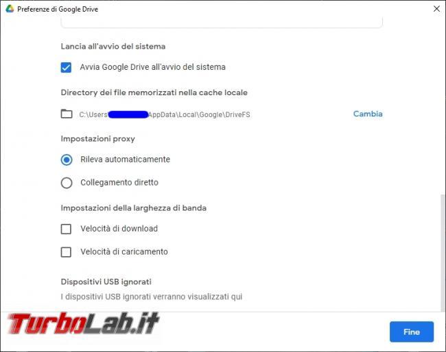 Google Backup and Sync Google Drive for desktop: mini-guida veloce transizione necessaria, indolore - Google Drive_020_ITA_[controllare che sia impostato a partire all avvio del sistema]