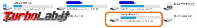 Google Backup and Sync Google Drive for desktop: mini-guida veloce transizione necessaria, indolore - Google Drive_021_ITA_[un nuovo drive tra le risorse del computer]