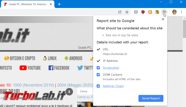 Google Chrome: come ripristinare visualizzazione http://, https:// www. indirizzo (URL)