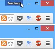Google Chrome: rimuovere nome-utente barra titolo - chrome username barra titolo