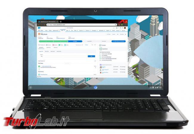 Google compra Cloudready: Chrome OS disponibile tutti? - Black-Laptop-with-Salesforce+2