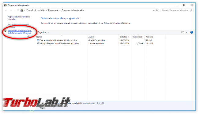 Grande Guida Bash Windows 10: come installare Sottosistema Windows Linux (WSL) ed eseguire programmi Linux/Ubuntu sotto Windows 10 - Programmi e funzionalità