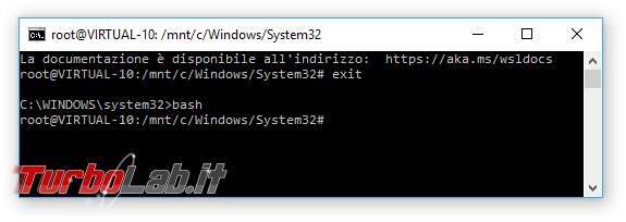 Grande Guida Bash Windows 10: come installare Sottosistema Windows Linux (WSL) ed eseguire programmi Linux/Ubuntu sotto Windows 10 - windows 10 bash exit