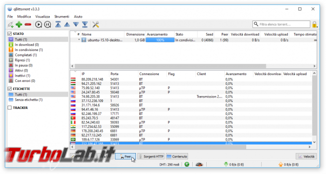 Grande Guida BitTorrent - qBittorrent peer lista ip
