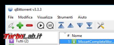 Grande Guida BitTorrent - qbittorrent toolbar