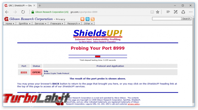 Grande Guida BitTorrent - shieldsup port 8999