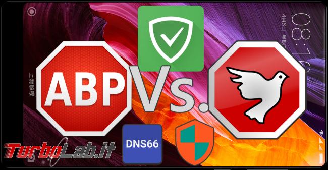 Grande Guida blocco pubblicità ( block) Android (root/no root): AdAway contro AdBlock Plus, AdGuard, NetGuard, DNS66: quale scegliere? chi è migliore? - android adblock spotlight ad block abp