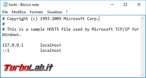 Grande Guida file hosts: cos'è, cosa serve come modificarlo bloccare malware pagine web indesiderate sviluppare app siti locale (Windows, Linux, Mac, Android)