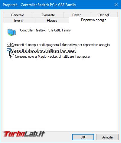 Grande Guida Wake-on-LAN (WoL): come accendere PC Windows / Linux Ubuntu lontano usando smartphone Android connessione Internet - proprietà scheda di rete attiva wol 2